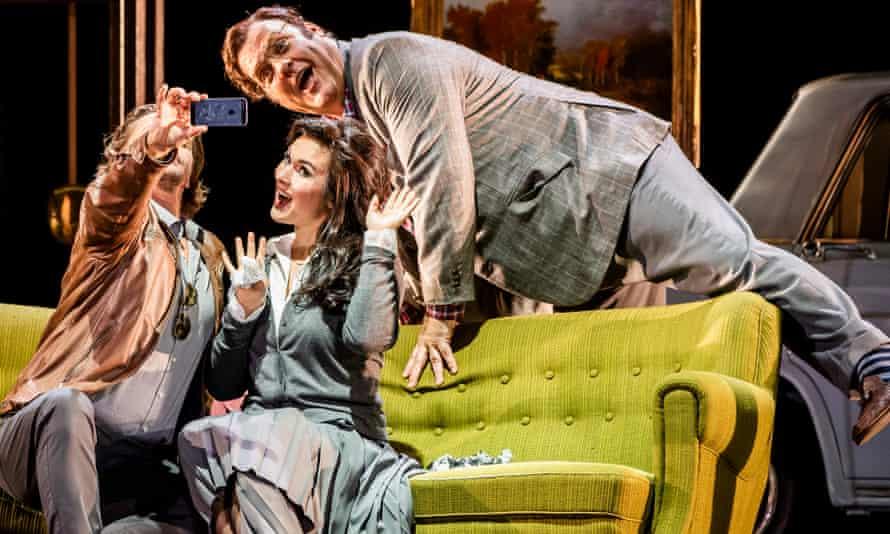 Marcus Werba (Doctor Malatesta), Olga Peretyatko (Norina) and Bryn Terfel (Don Pasquale) in Don Pasquale by Donizetti @ Royal Opera House