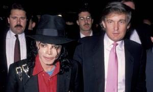 Michael Jackson and Donald Trump at the grand opening of the Taj Mahal casino in Atlantic City in 1990.
