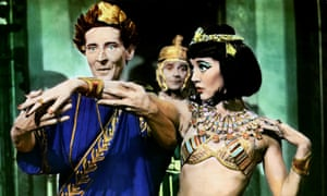 Kenneth Williams and Amanda Barrie in Carry on Cleo