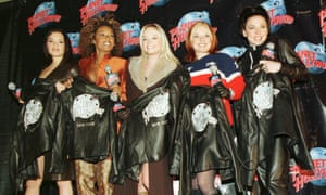 'Gotta get with my friends' ... The Spice Girls promoting their movie Spice World in New York.
