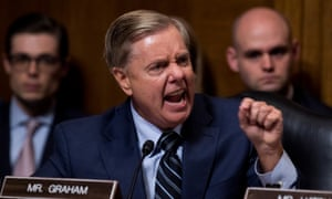Lindsey Graham jabs his finger.