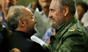 The former Respect MP George Galloway, left, with Fidel Castro in Havana in 2006.