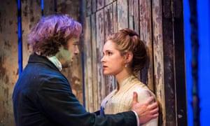 Sardonic self-loathing … Geoffrey Streatfeild as Platonov and Sophie Rundle Sofya in Wild Honey.