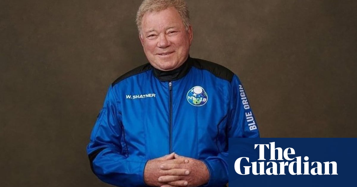 Ground control to Captain Kirk! William Shatner is off to the final frontier, for real