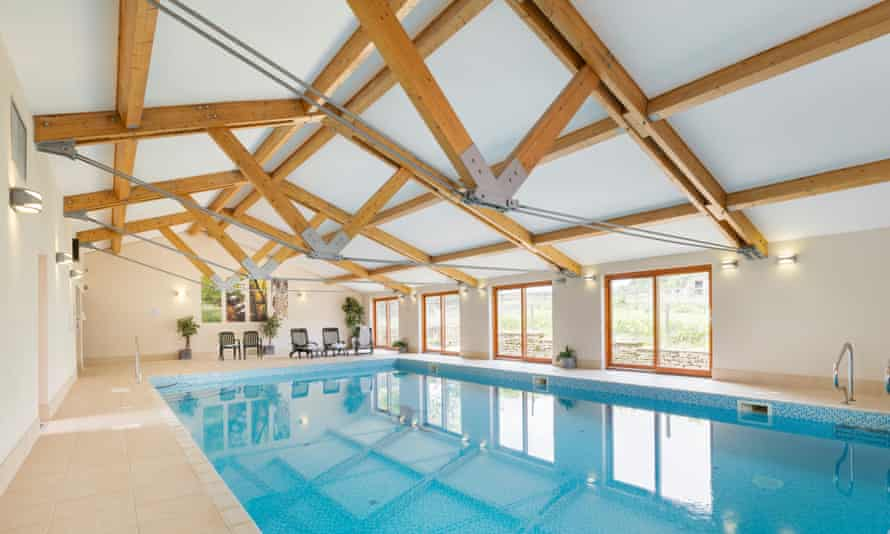 Pool at Uppergate Farm Cottages, nr Holmfirth, Yorkshire