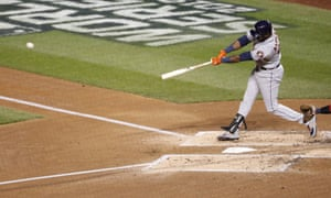 A Cuban goes deep in DC: Yordan Alvarez hits a two-run home run in Game 5 of the 2019 World Series to put the Houston Astros up 2-0 over the Washington Nationals.