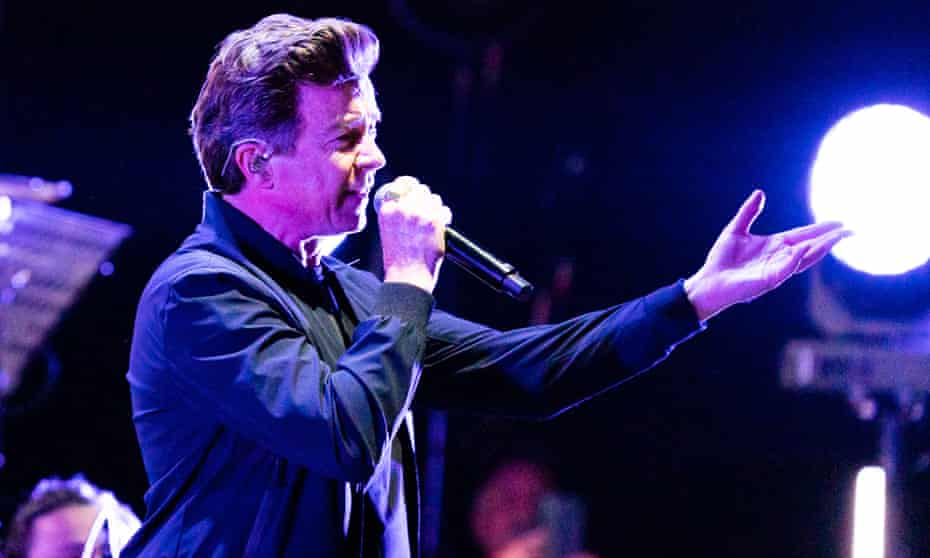 'Tonight, Matthew, I'm going to be …' Rick Astley on stage.