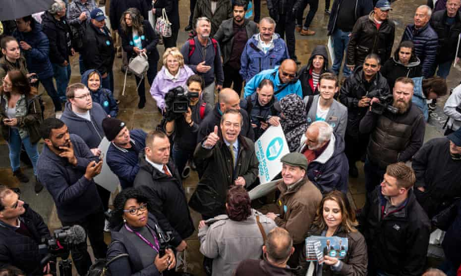 Nigel Farage in Dudley, West Midlands.