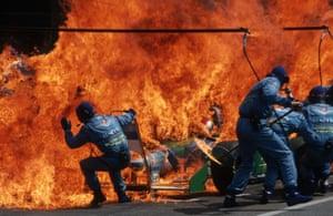 Narrow Escape – Fire Incident in Hockenheim, German F1 Grand Prix, July 31, 1994 by Arthur Thill