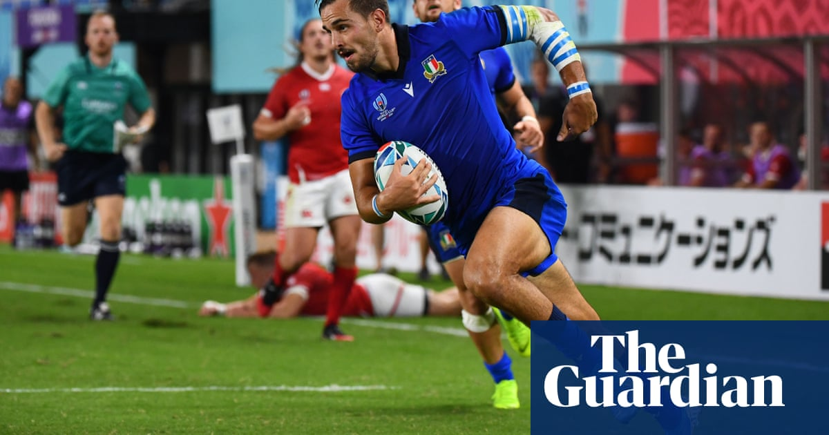 Matteo Minozzi seals Italy's seven-try romp over Canada at Rugby World Cup