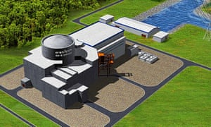 Artist's impression issued of the planned nuclear power station at Bradwell, Essex