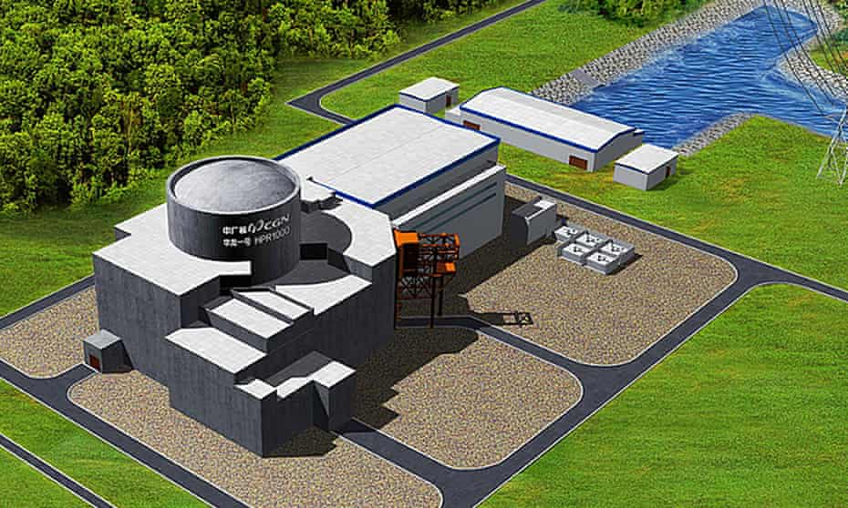 Artist's impression of nuclear power station at Bradwell