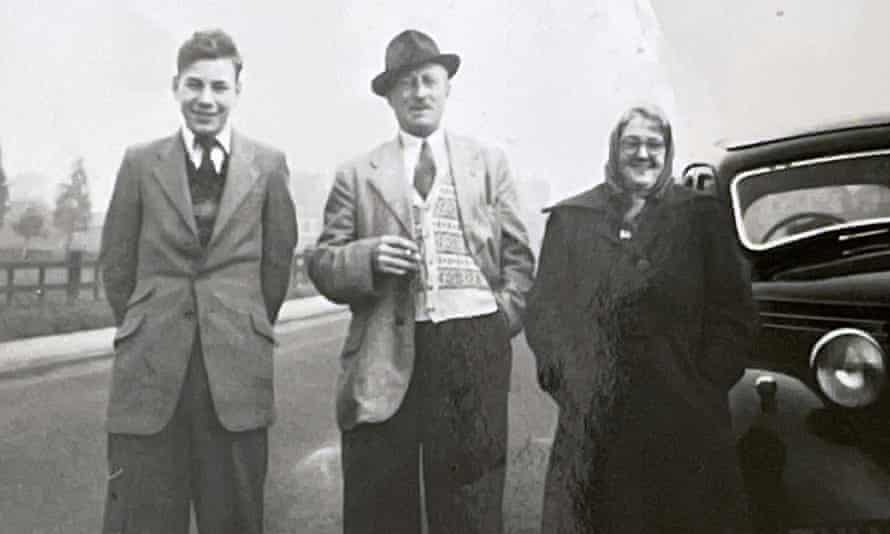 Sir Patrick Stewart, pictured with his parents, Alfred and Gladys, in 1954.