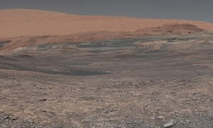 An image provided by Nasa, assembled from a series of January 2018 photos made by the Mars Curiosity Rover.