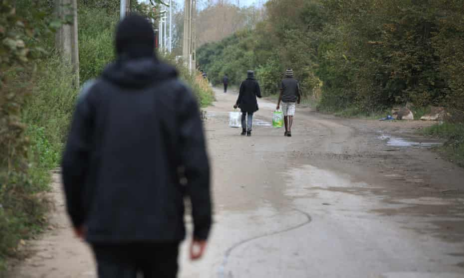 A road leading off Route de Gravelines in Calais, that borders the 'Jungle' migrant camp.