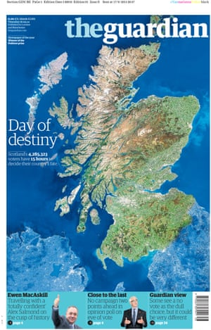 Guardian front page: 'Day of destiny'