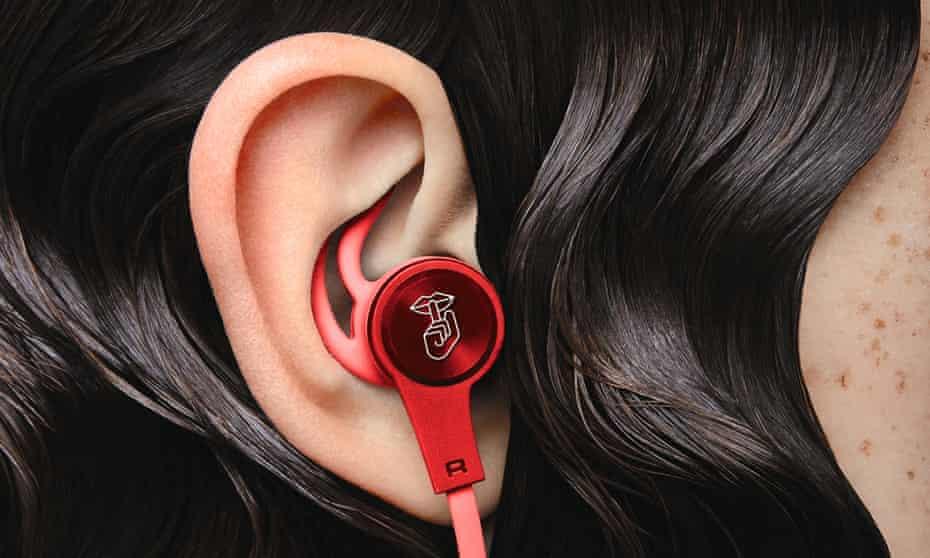 women with earphone in