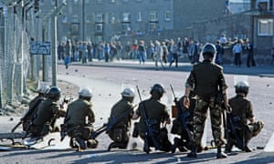 British troops on the streets in Derry, August 1975.