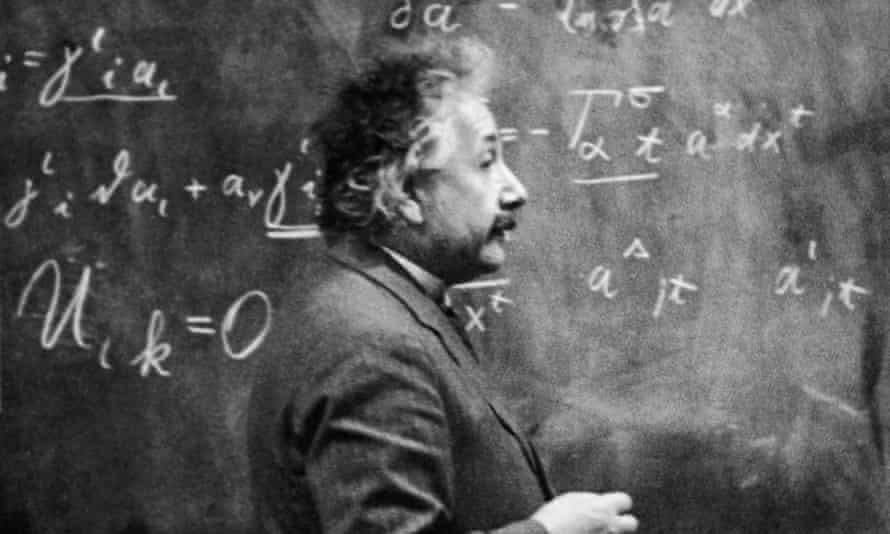 Albert Einstein mid-calculation, c1931.