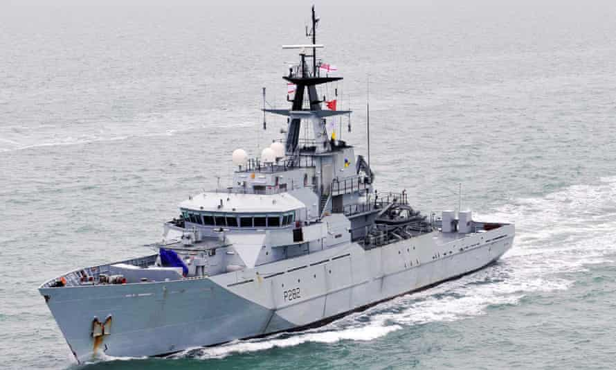 HMS Severn, one of the two vessels sent to Jersey.