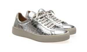 Po-Zu vegan Sneak V silver, £99.