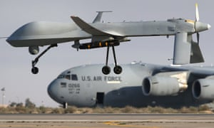 A Predator unmanned aerial vehicle carrying a Hellfire missile lands at a base in the Persian Gulf: a dummy Hellfire missile has been mistakenly shipped to Cuba.