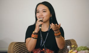 Emmanuela Shinta during the panel A Cry for Help at Taman Baca at Ubud Writers and Readers Festival 2018