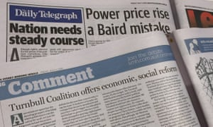 The Daily Telegraph and the Sydney Morning Herald's editorial endorsements