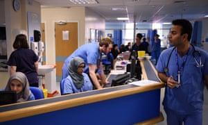 NHS hospital staff