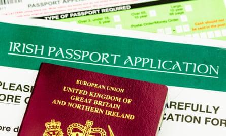 British passport and Irish passport application