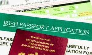 Application for Irish passport