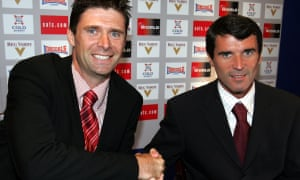 Niall Quinn and Roy Keane: the two managers who guided Sunderland through all 24 places.