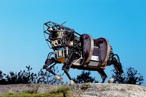 A mechanical dog manufacuted by robot maker Boston Dynamics