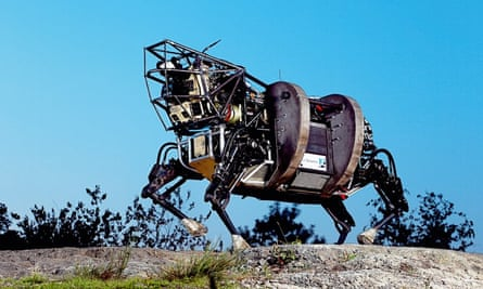 One of Boston Dynamics's robots on the prowl.