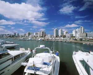 Punta del Este harbour. The Uruguayan city has been likened to Monaco.