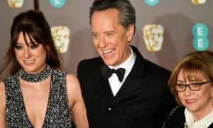 Richard E Grant with his daughter, Olivia, and his wife, Joan Washington.