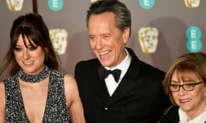 Richard E Grant arrives at the ceremony.