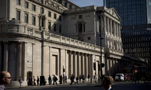 The Bank of England in the City of London.