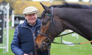 How nervous is Nicky (with Altior here).