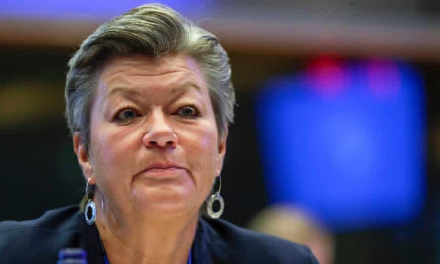 European commissioner for home affairs Ylva Johansson.