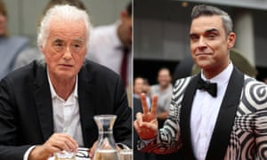 Jimmy Page and Robbie Williams.