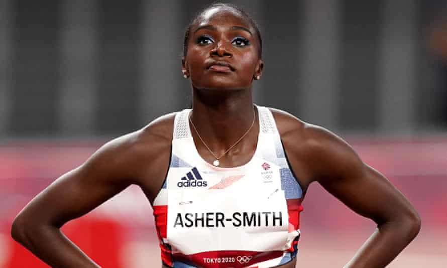 Dina Asher-Smith after her 100m semi-final ended in failure to qualify for the final