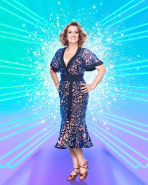 Jacqui Smith in a Strictly outfit