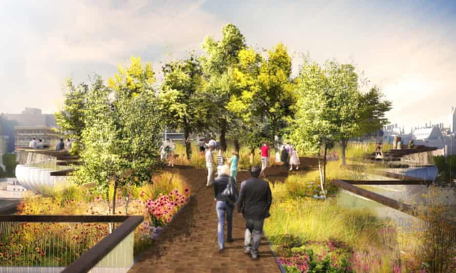 Who needs this bridge? An image of the proposed Garden Bridge in London.