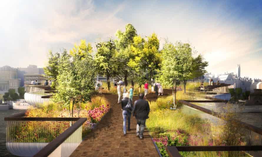 Artist's impression of the proposed garden bridge