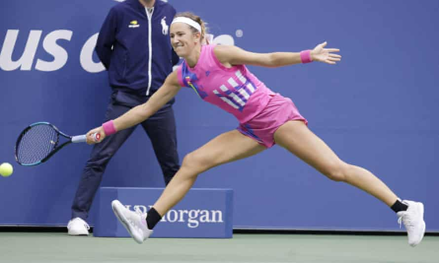 Victoria Azarenka chases down a return.