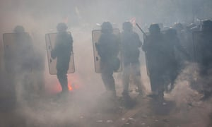 Riot police during a May Day demonstration in Paris