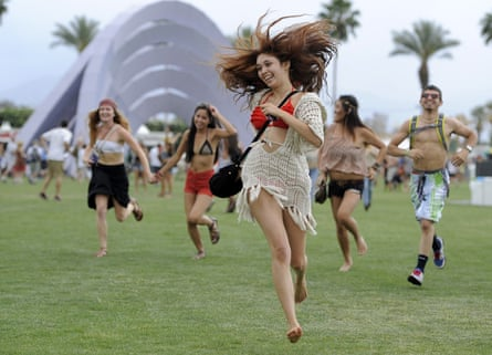 Festivalgoers at Coachella, which has been postponed to October.