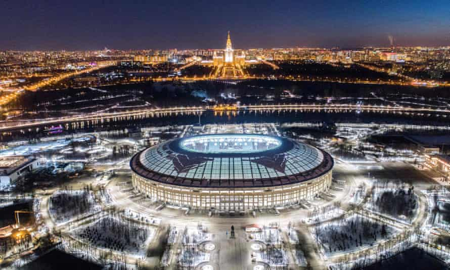The Luzhniki stadium in Moscow, one of 12 venues for the World Cup.