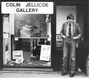 Colin Jellicoe outside his gallery in Manchester